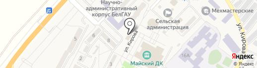 Магазин кондитерский изделий на карте Майского