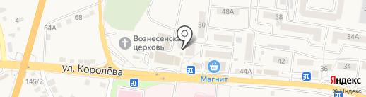Магазин канцтоваров на карте Стрелецкого