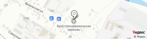Крестовоздвиженский храм на карте Белгорода