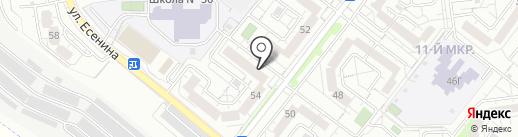 Аквастрой на карте Белгорода