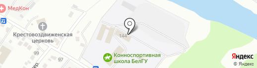Конноспортивная школа на карте Белгорода