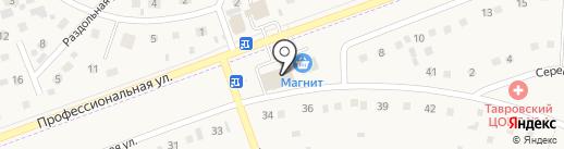 уДачный на карте Таврово