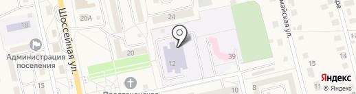 Северная средняя общеобразовательная школа №2 на карте Северного