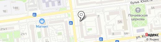 Золотая лоза на карте Белгорода