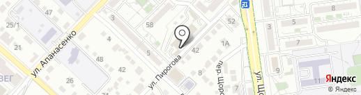 Колосок на карте Белгорода
