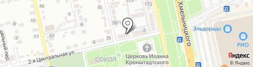 Библиотека №4 на карте Белгорода