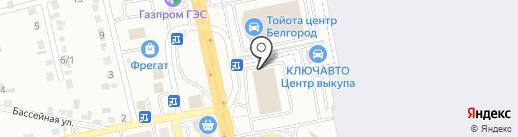 Аэробус на карте Белгорода