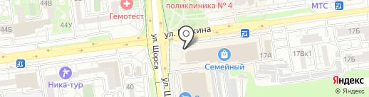 Кавалер на карте Белгорода