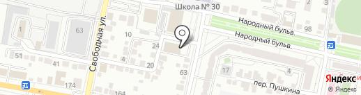 Бродвей на карте Белгорода