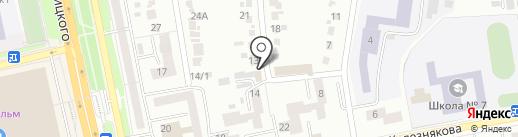 Глобус на карте Белгорода
