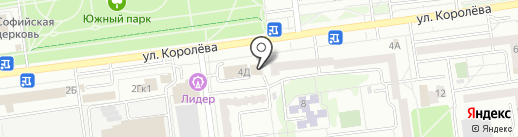 Баня на карте Белгорода