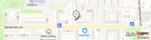Хмельник на карте Дубового