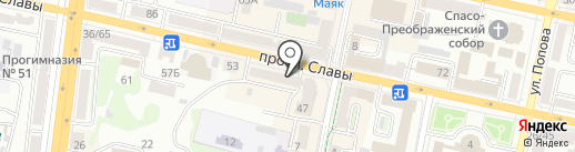 Знамя на карте Белгорода