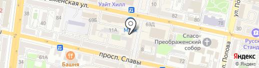 Чулок на карте Белгорода