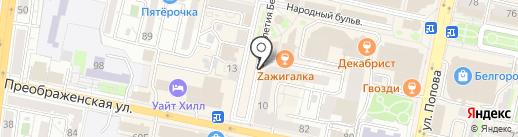 Сет на карте Белгорода