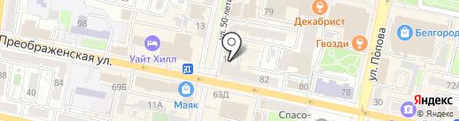 Образ на карте Белгорода