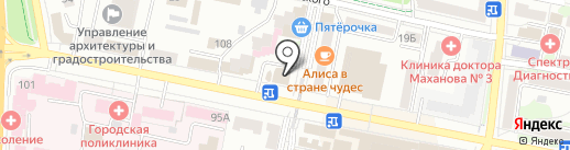 Книжный на карте Белгорода