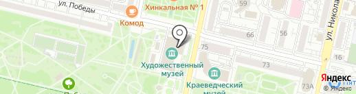 Белгородский государственный художественный музей на карте Белгорода