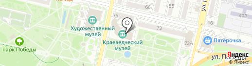 Белгородский государственный историко-краеведческий музей на карте Белгорода