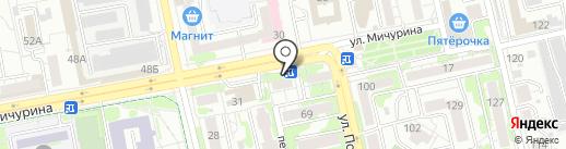 Сластёна на карте Белгорода