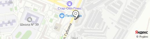 Гараж на карте Белгорода