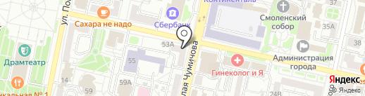 Адвокатский кабинет Бариновой Т.Н. на карте Белгорода