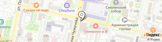 Белгородский областной суд на карте Белгорода
