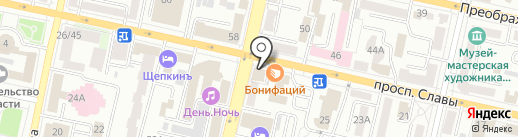 Белгородские епархиальные ведомости на карте Белгорода