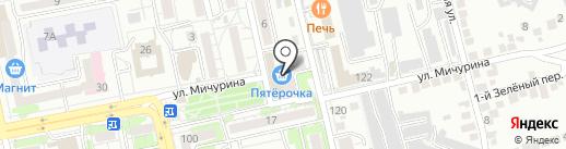 Кураж на карте Белгорода