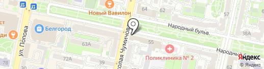 Территориальный фонд обязательного медицинского страхования Белгородской области на карте Белгорода