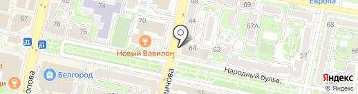 Оптимист на карте Белгорода