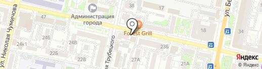 Гримёрка на карте Белгорода