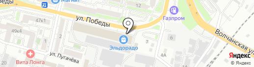 Аскида на карте Белгорода