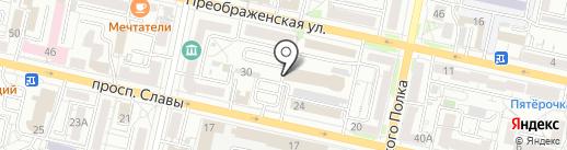 КорСсис на карте Белгорода