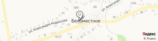 Беломестненская поселенческая библиотека на карте Беломестного