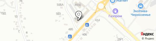 Каскад на карте Белгорода