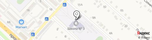 Разуменская среднеобразовательная школа №3 на карте Разумного
