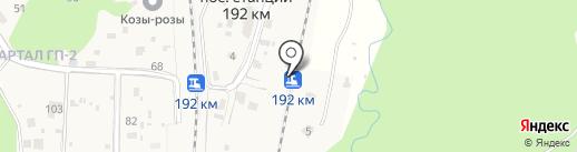 Остановочный пункт 192км на карте Звенигорода