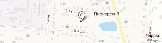 Шина JСB на карте Пионерского