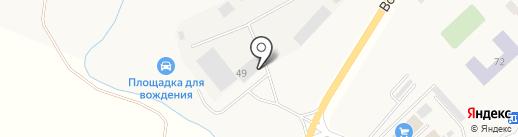 Истринский Автодор на карте Лучинского