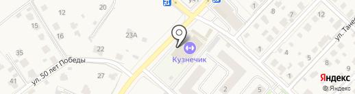 Кузнечик на карте Звенигорода
