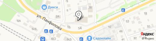 Дачный на карте Истры