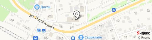 Магазин посуды на ул. Панфилова на карте Истры