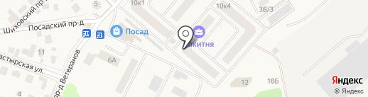 Ракитня на карте Звенигорода