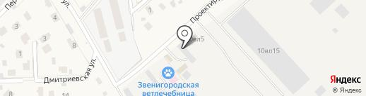 Этк Посад на карте Звенигорода