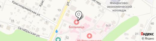 Звенигородская центральная городская больница на карте Звенигорода