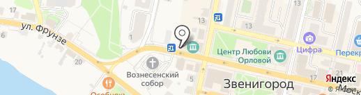 Дарпин на карте Звенигорода