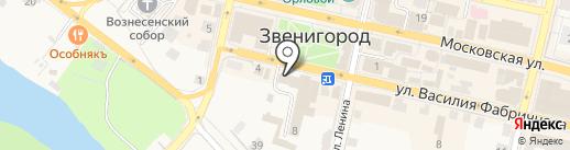 Статум на карте Звенигорода