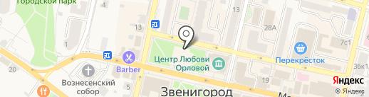 Оконный квартал на карте Звенигорода