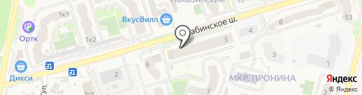 Основа на карте Звенигорода